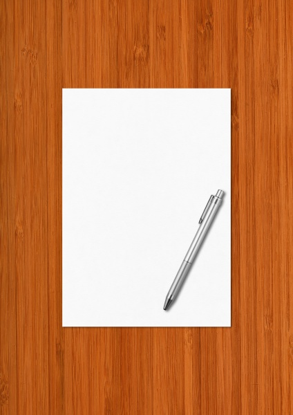 blank white a4 paper sheet and