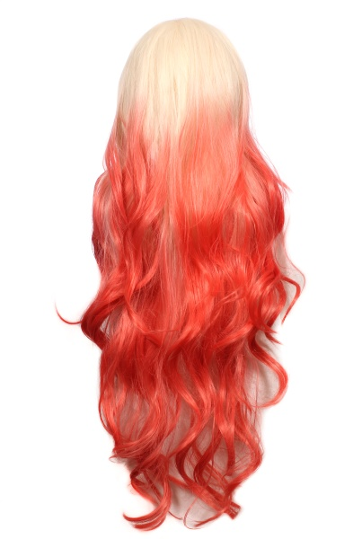 blond and orange ombre wig on