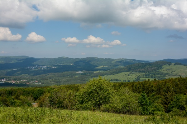 view from kreuzberg to the landscape