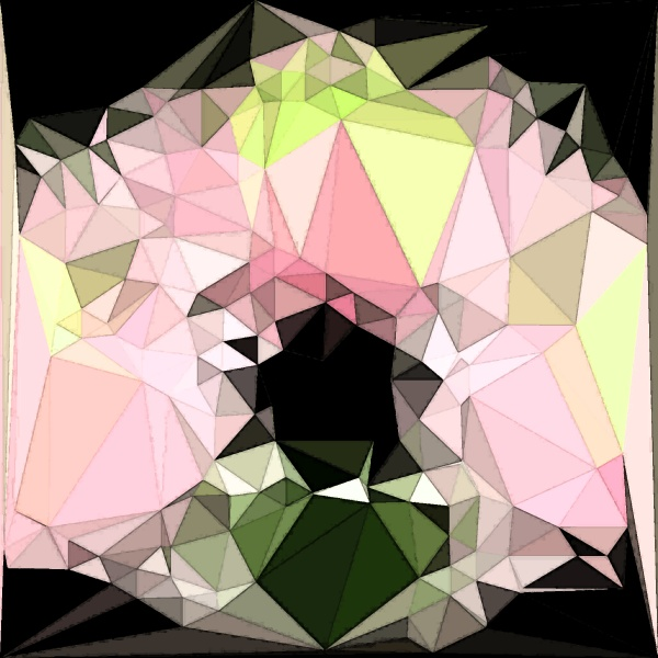 abstract polygonal background with irregular tessellations