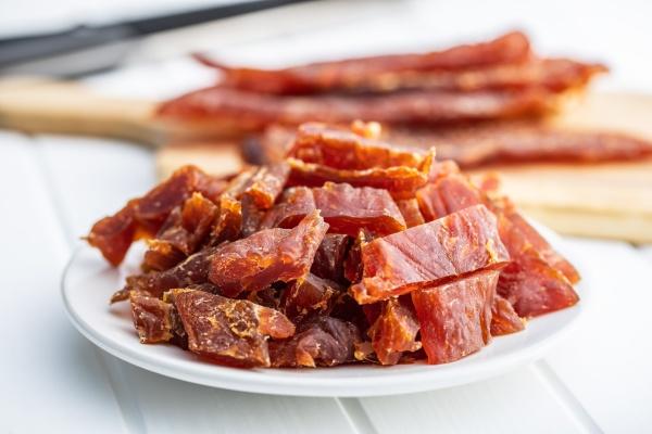 dried chicken meat tasty jerky