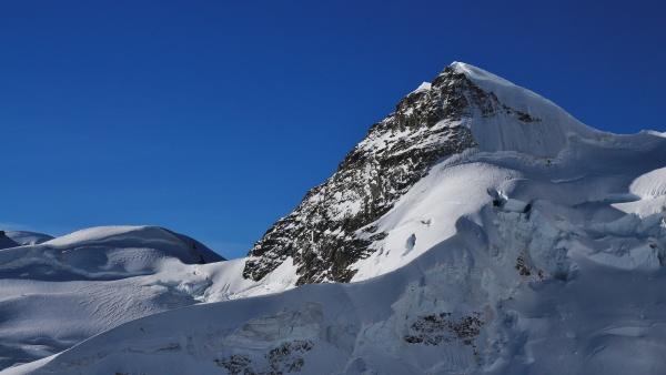 mt rottalhorn seen from the jungfraujoch