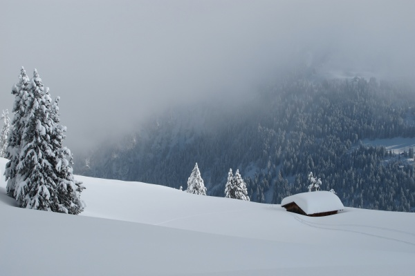 winter day in the alps