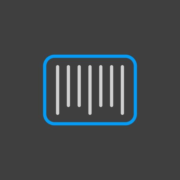 barcode vector icon e commerce sign