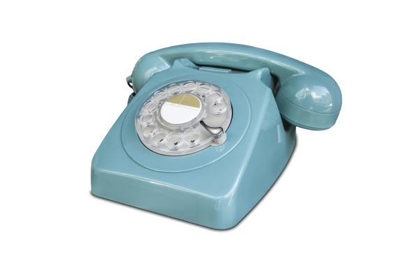 turquoise rotary dial seventies telephone