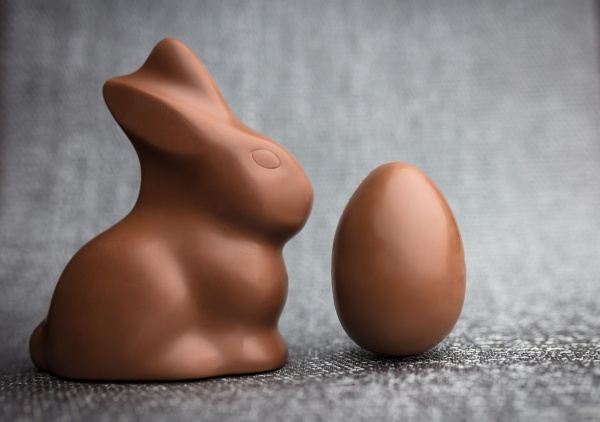 delicious easter chocolate bunny eggs