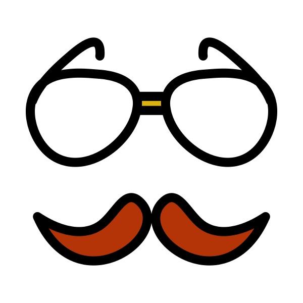 glasses and mustache icon