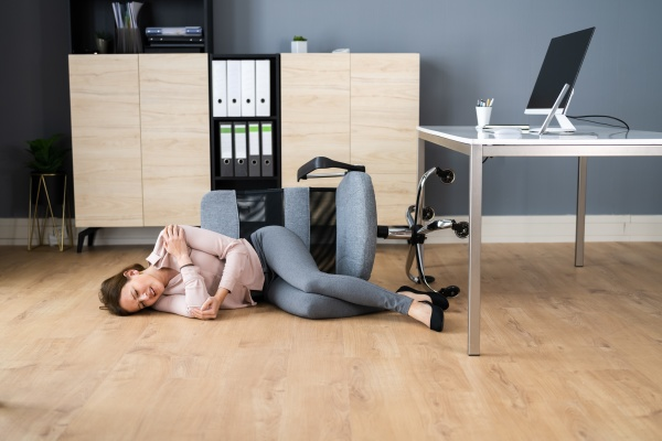 slip fall office chair accident