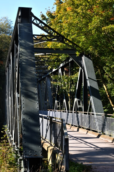 old steel bridge in hannover doehren