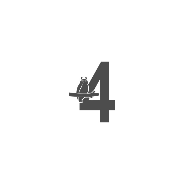 number 4 logo icon with