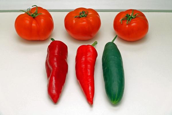fresh vegetable food ingredients