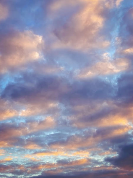 beautiful dramatic sky painted in different