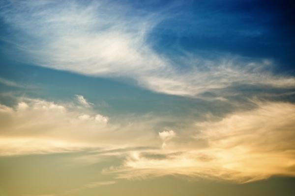 beautiful sunset sky with dramatic light