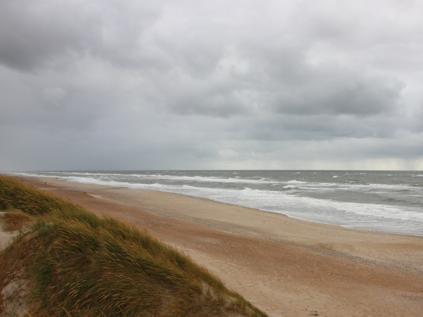 cloudy weather with horizon coast of