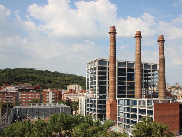 three chimneys park in city barcelona