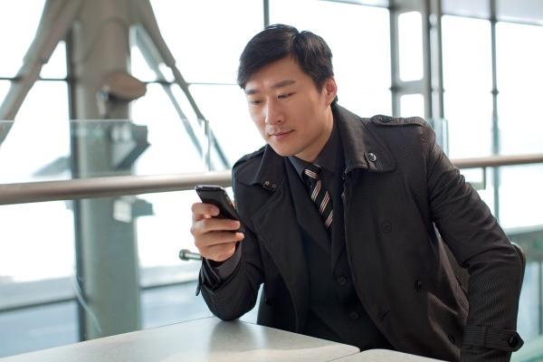wait contact oriental business scene indoor