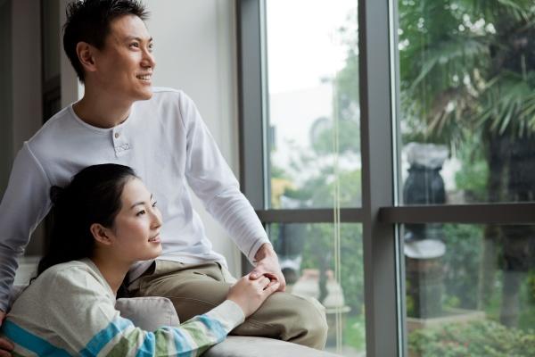 girlfriend asia adult a man affectionate