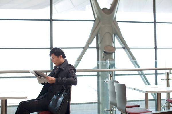 a man adult manager airport professional