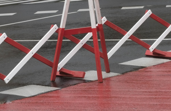 barrier on the road or road
