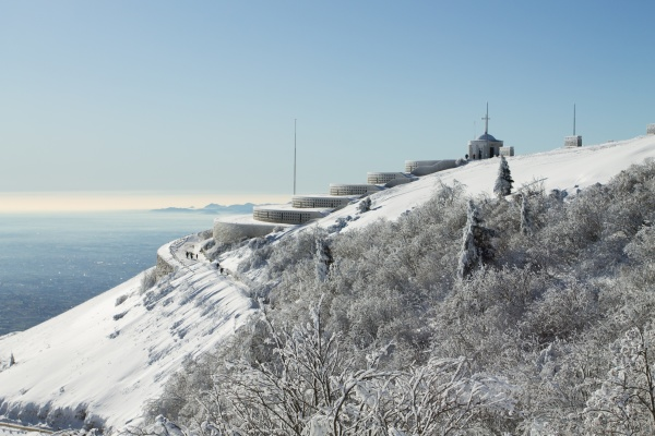 mountain winter landscape mount grappa with