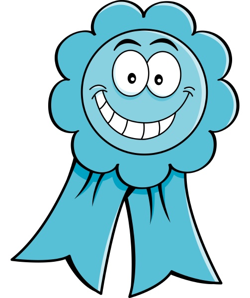 cartoon illustration of an award ribbon
