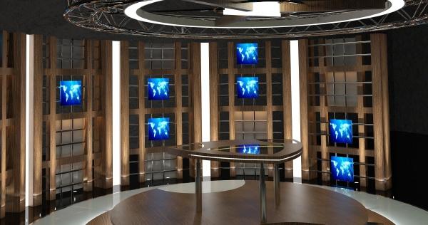 virtual tv studio chat set 17