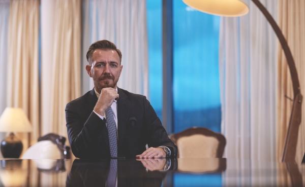 corporate business man portrait at luxury