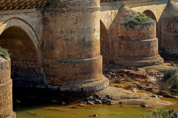roman bridge in the city of