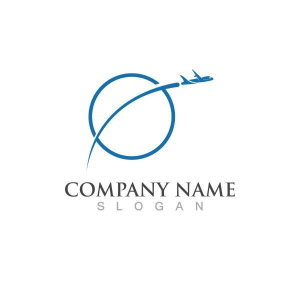 aeroplane logo icon vector illustration template