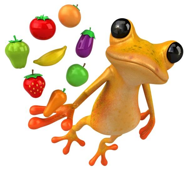 fun yellow frog 3d