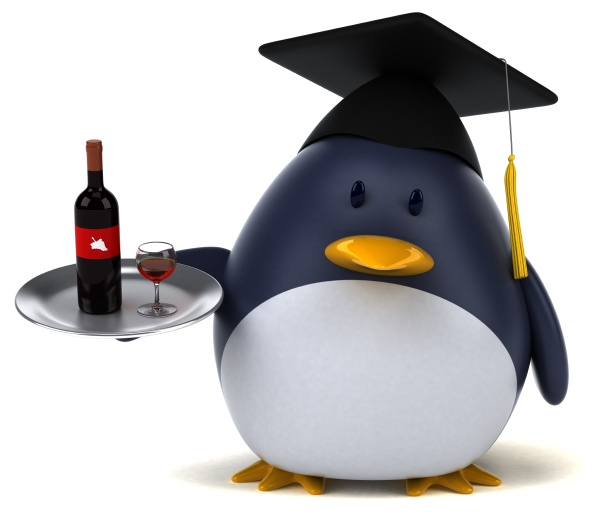 fun penguin 3d illustration