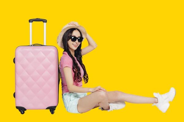 happy girl enjoy summer vacation