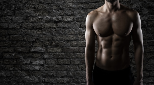 muscular of a body building trainer