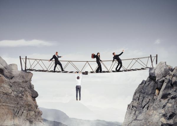3d rendering of unsafe bridge