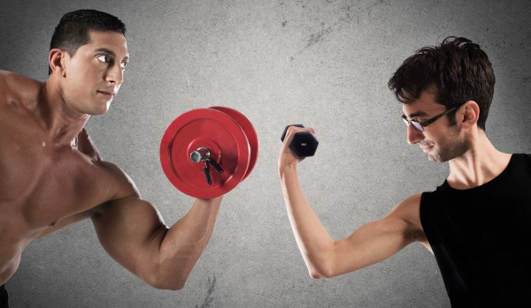 ironic comparison of muscle strength