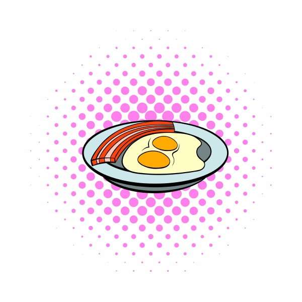 fried eggs and sausages icon