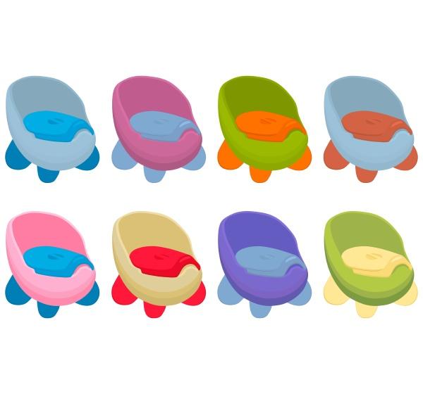 illustration on theme kit plastic baby