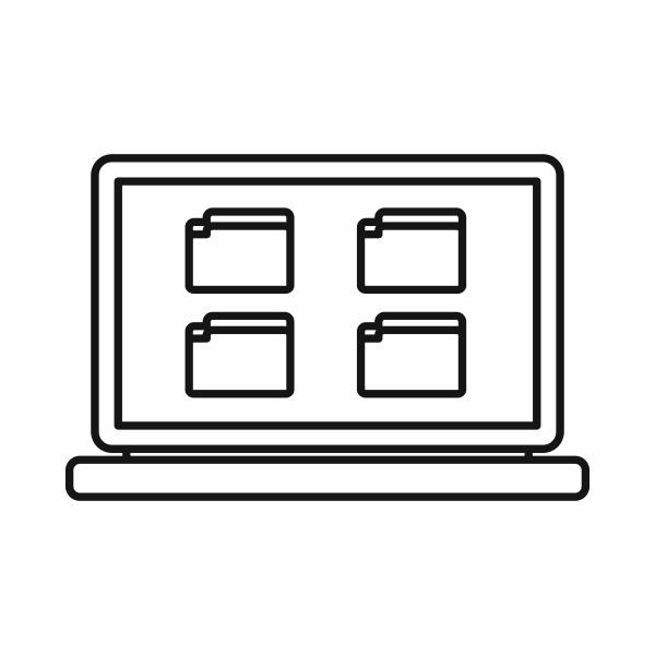 desktop icon outline style