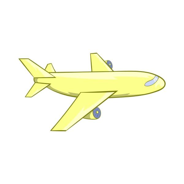passenger airplane icon cartoon style