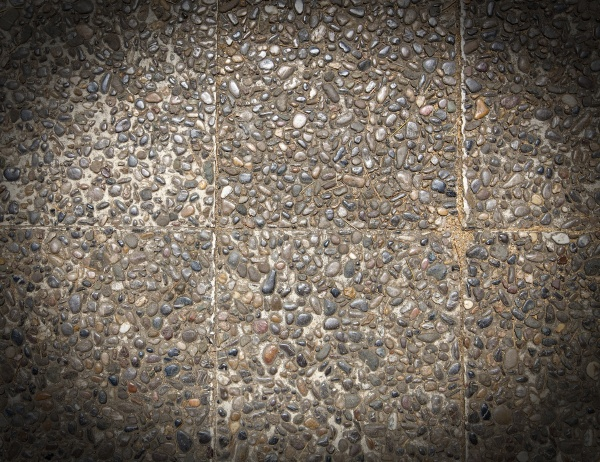 ground stone washed floor made of