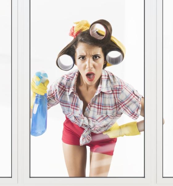 astonished housewife