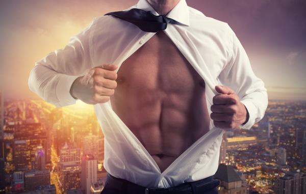 businessman like a super hero concept