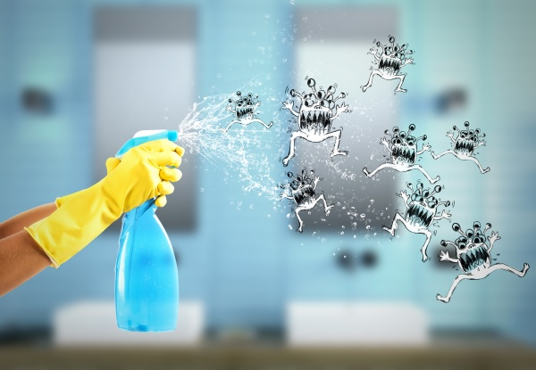 housewife cleaning spray 3d rendering