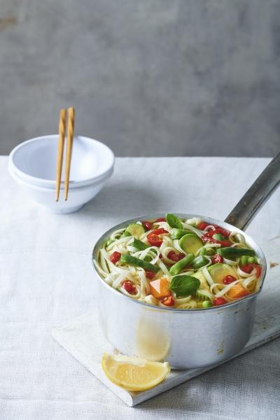 noodle pot with vegetables