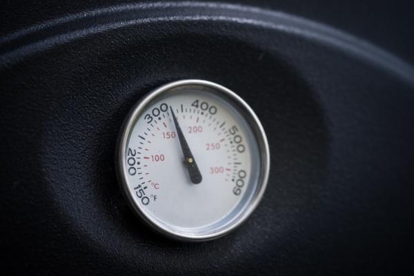 barbecue smoke grill circular degree thermometer