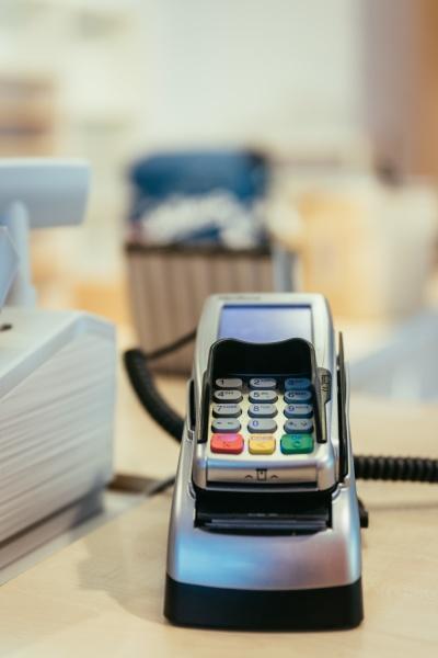 cash register in a store