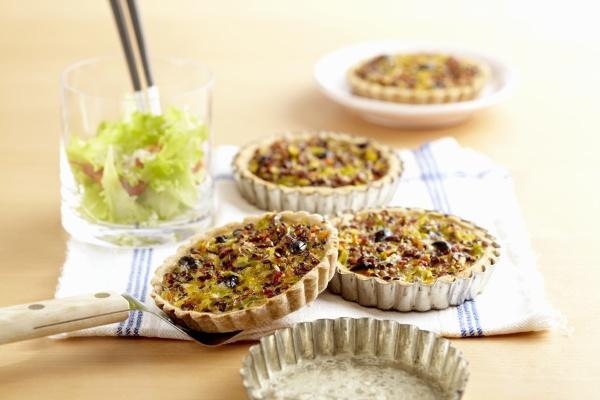 roman lentil tartlets with shortcrust pastry