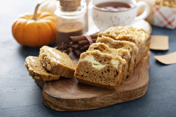 pumpkin loaf cake or bread with