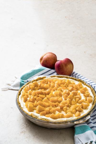 no bake peach and mango pie