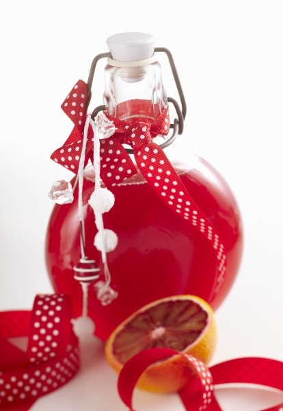 blood orange syrup with ginger and